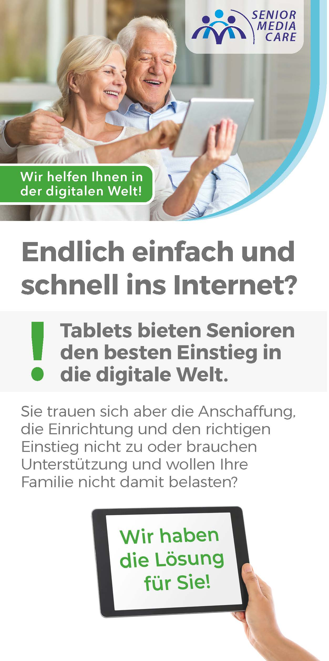 Senior Media Care Infobroschüre
