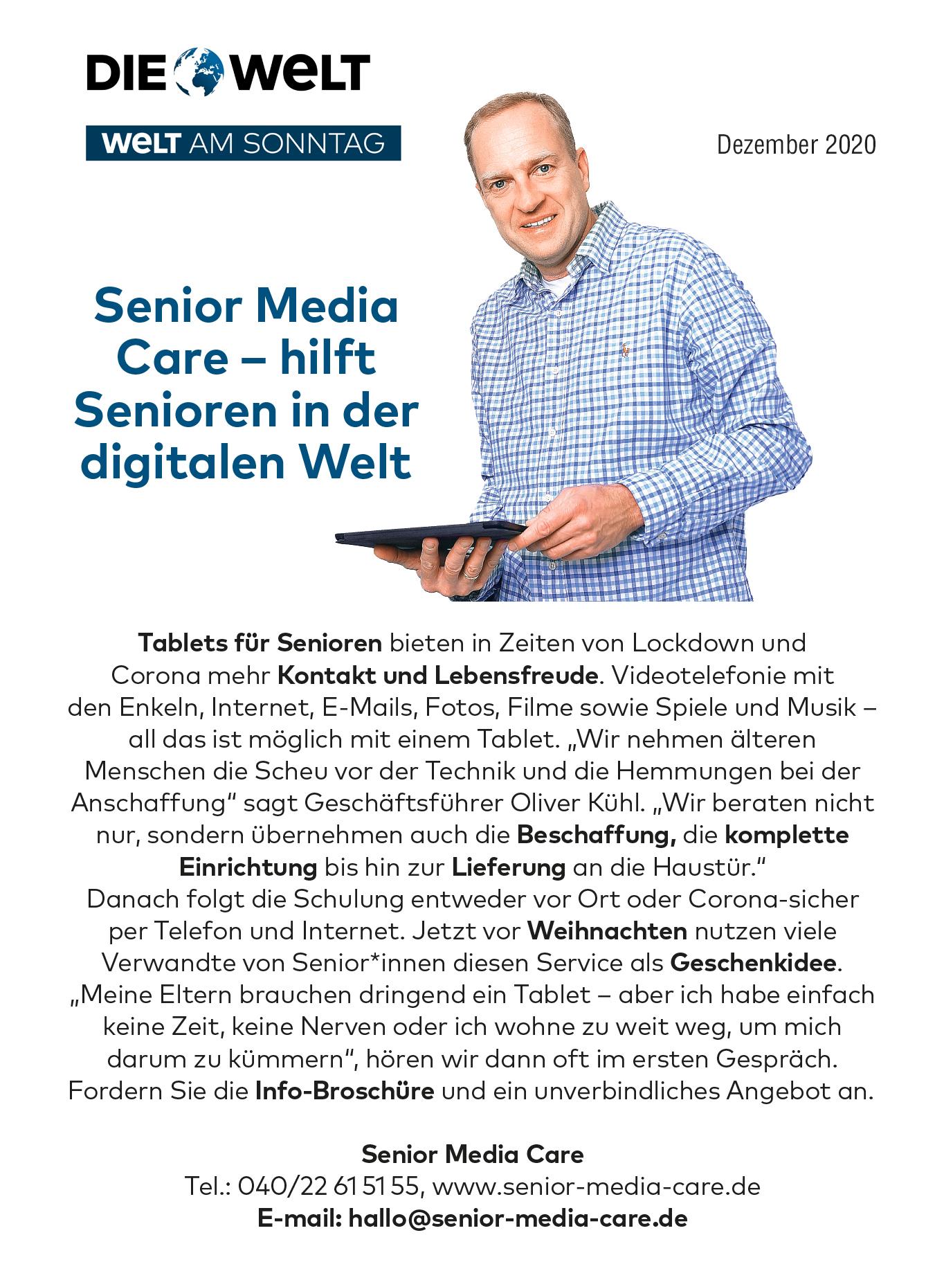 Bericht Senior Media Care Welt und Welt am Sonntag
